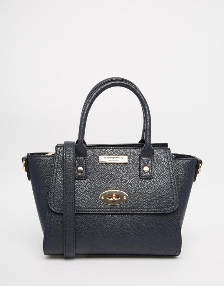 Carvela Mini Handheld Bag With Optional Strap - Navy