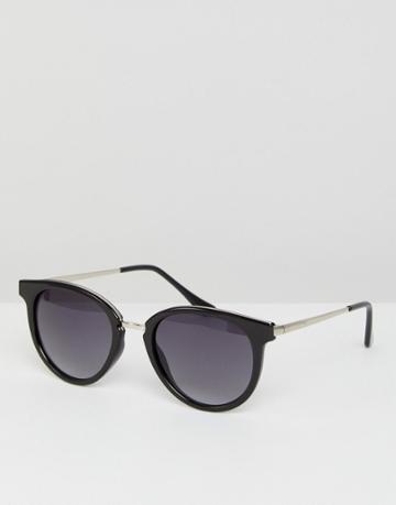 Esprit Round Sunglasses In Black - Black
