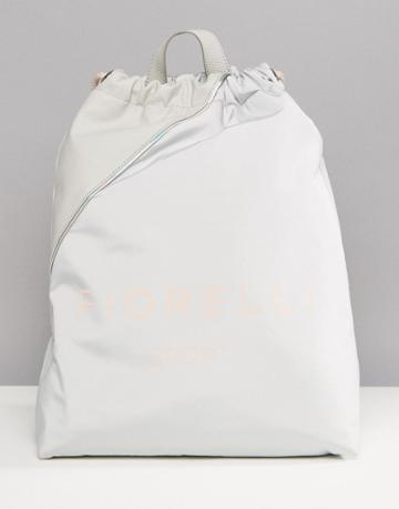 Fiorelli Sport Elite Drawstring Gym Backpack In Gray - Gray