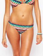 Bikini Lab Ikat Print Bikini Bottom - Multi
