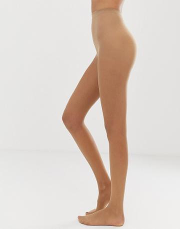 Gipsy Soft Luxury Matte 15 Denier 2 Pack Tights In Beige - Beige