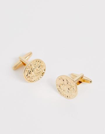 Designb Gold Coin Cufflinks - Gold