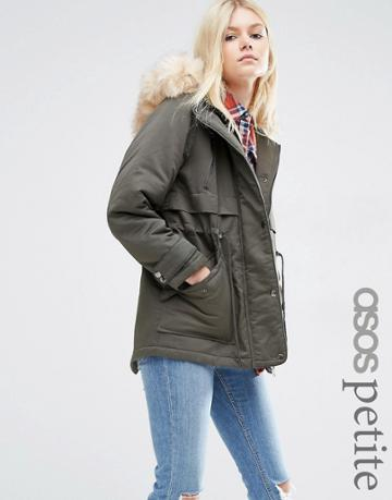 Asos Petite Ultimate Parka - Green
