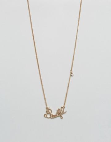 Asos Beautiful Necklace - Gold