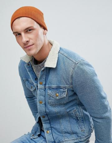 Jack & Jones Beanie In Rib Cotton Mix - Black