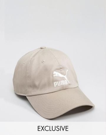 Puma Cap In Gray Exclusive To Asos - Tan