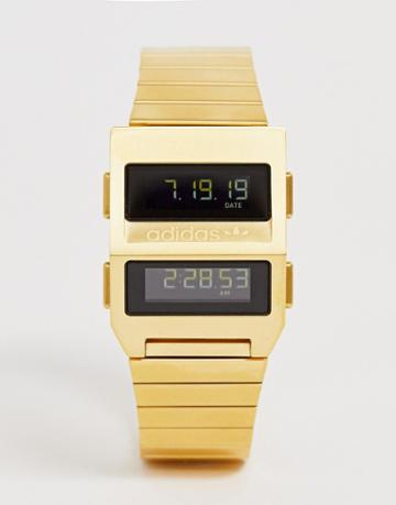 Adidas M3 Archive Bracelet Watch In Gold