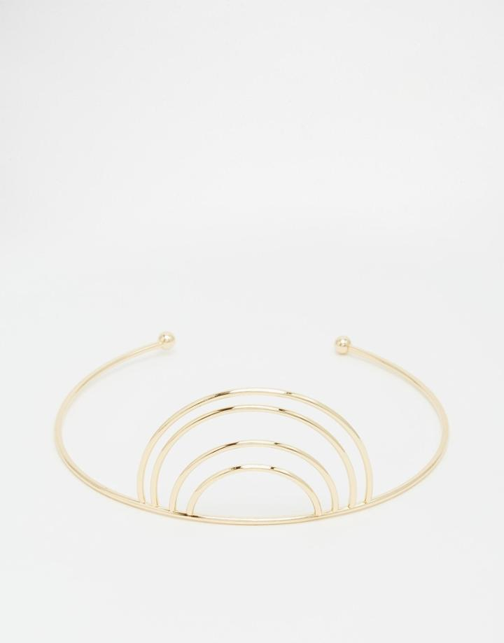 Asos Rainbow Arm Cuff - Gold