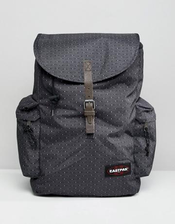 Eastpak Austin Backpack With Stitch Dot Print 18l - Black