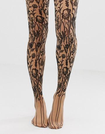Wolford Wildflower Sheer Tights - Multi