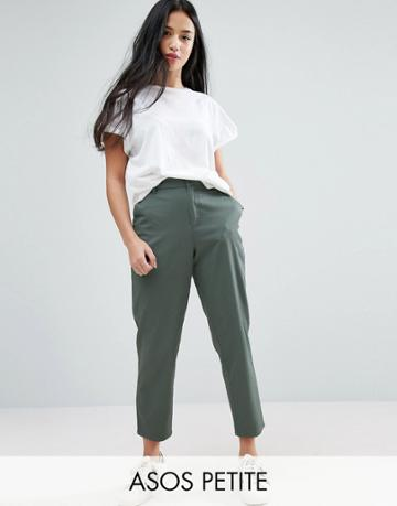 Asos Petite Chino Pants - Green