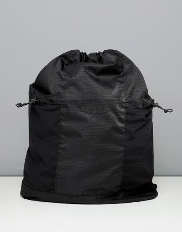 Asos 4505 Drawstring Bag With Mesh Side Pockets - Black