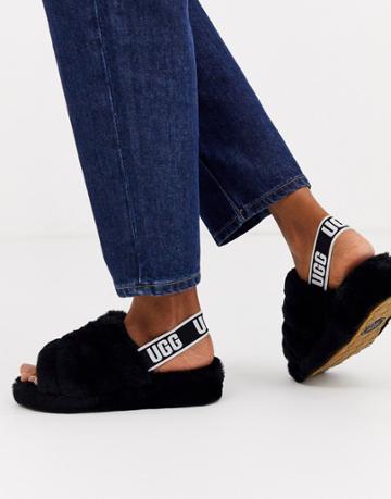 Ugg Fluff Yeah Slide Slippers In Black