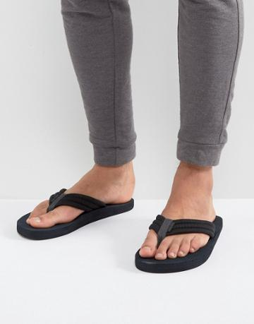 Jack & Jones Banda Flip Flops - Black
