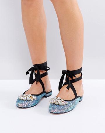 Asos Lady Luck Embellished Ballet Flats - Multi