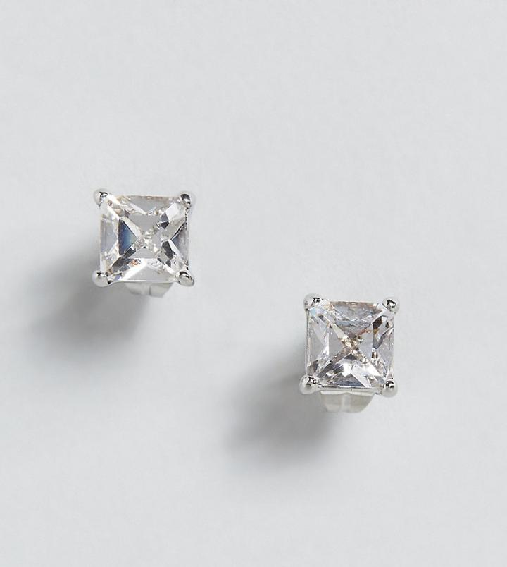 Simon Carter Clear Stud Earring With Crystals From Swarovski - Silver