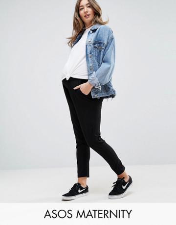 Asos Maternity Utlimate Jersey Peg Pants - Black