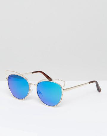 New Look Mirrored Cateye Sunglasses - Silver