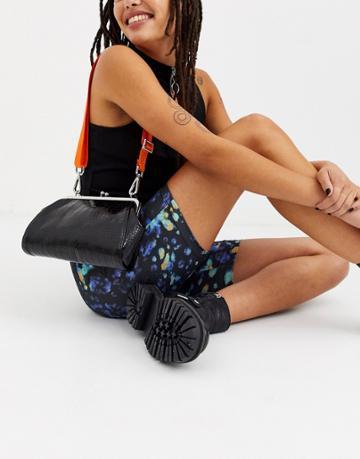 Asos Design Clean Frame Bag With Contrast Strap