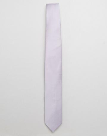 Asos Wedding Tie In Lilac - Purple
