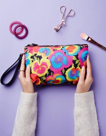 Warehouse Pansy Pop Makeup Bag - Multi