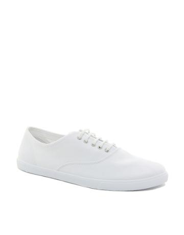 Asos Oxford Plimsolls - White