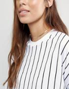 Asos Fine Chain Choker Necklace - Gold