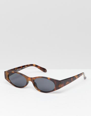 Weekday Slim Sunglasses - Brown