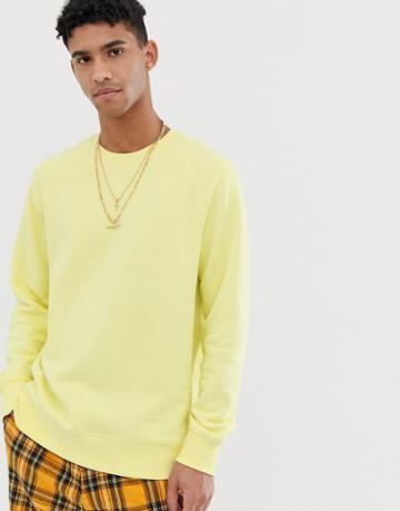 Weekday Paris Sweatshirt In Yellow - Yellow