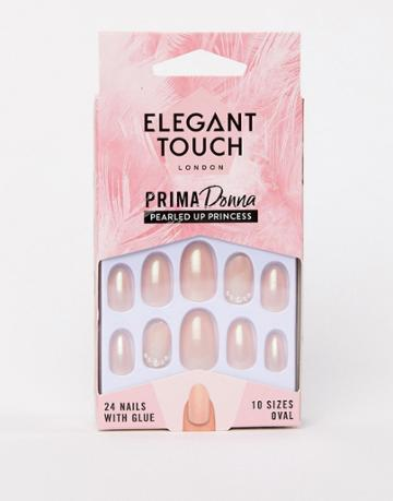 Elegant Touch Prima Donna Collection Pearled Up Princess False Nails - Beige