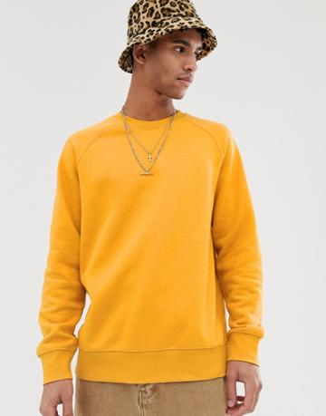 Weekday Paris Sweatshirt In Orange - Orange