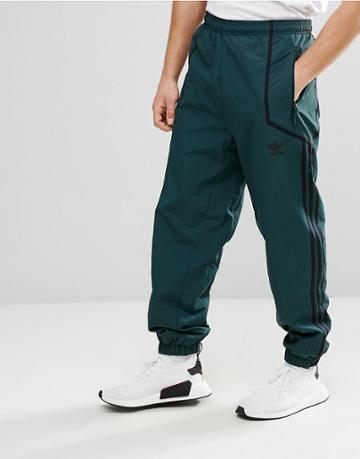Adidas Originals Chicago Pack Taped Wind Jogger In Green Br5085 - Green