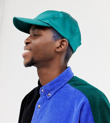 Collusion Satin Cap In Teal - Green