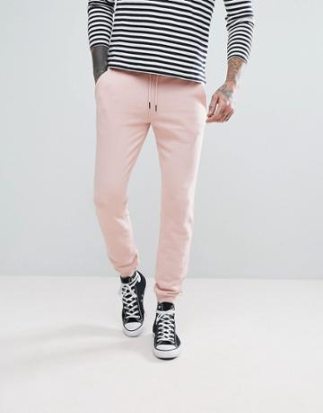 Farah Shalden Slim Fit Sweat Joggers In Pink - Pink