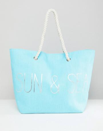 South Beach Blue Sun & Sea Beach Bag - Blue