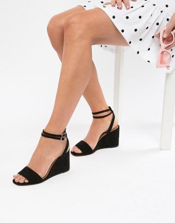 Asos Design Holt Sandal Wedges - Black
