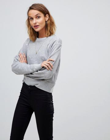 Allsaints Mabelle Distressed Sweater - Gray