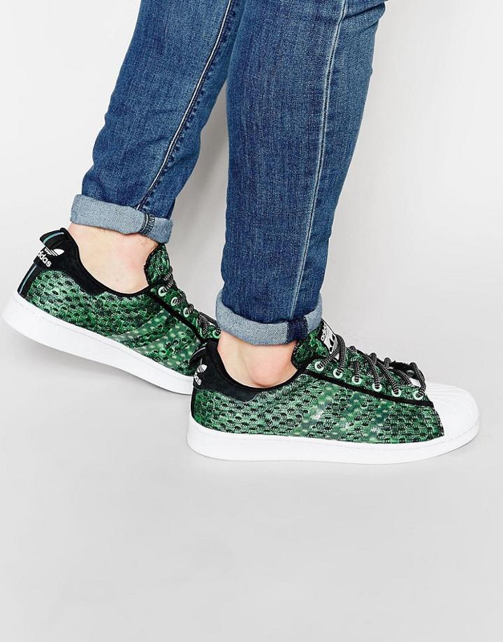 Adidas Originals Superstar Gid Sneakers - Green