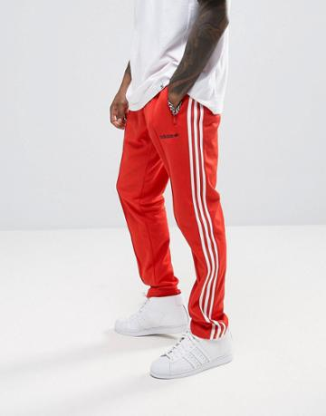 Adidas Originals London Pack Block Tapered Joggers In Red Bk7867 - Red
