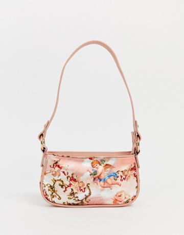 Asos Design 90s Shoulder Bag In Cupid Print