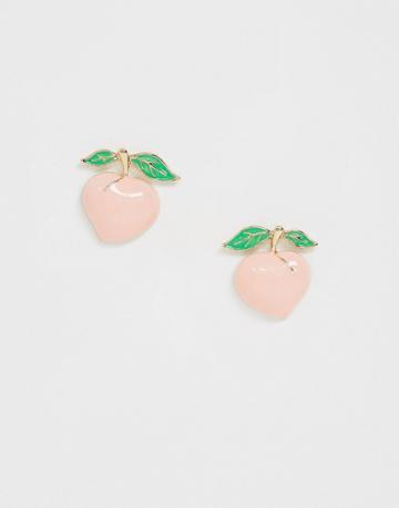 Asos Design Earrings In Peach Design - Multi