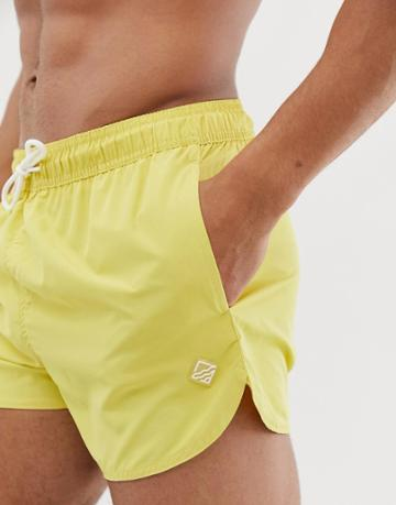 Bershka Swim Shorts In Yellow - Yellow