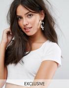 Monki Spiral Hoop Earrings - Silver