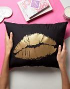 Crazy Haute Lips Cushion - Black