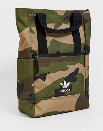 Adidas Originals Backpack Tote In Camo - Green