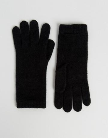 Johnstons Of Elgin Cashmere Gloves In Black - Black