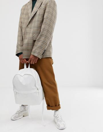 Asos Design Backpack In White - White