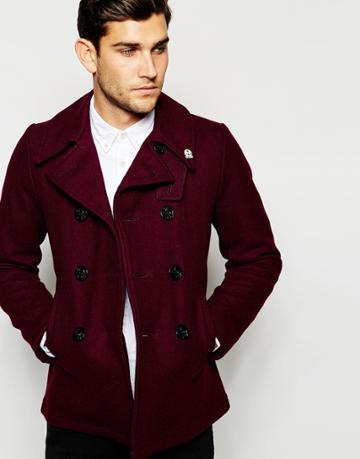 Fidelity Peacoat Made In Usa - Maroon