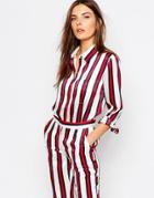 Finders Keepers Stripe Shirt - Burgundy Stripe