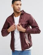 Pull & Bear Lightweight Jacket In Burgundy - Burgundy